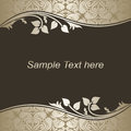 Luxury dark background with silver floral borders is presented Royalty Free Stock Photo