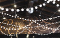 Luxury decorated place ceiling for wedding reception, catering i Royalty Free Stock Photo