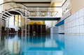 Luxury European indoor spa swimming pool Royalty Free Stock Photography