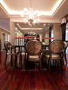 Luxury expensive dining room Royalty Free Stock Photography
