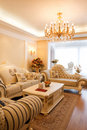 Luxury expensive living room interior Royalty Free Stock Photo