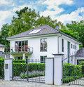 Luxury family house with garade Stock Image