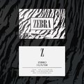 Luxury fashion business cards vector template, banner and cover with zebra texture pattern details on white. Branding Royalty Free Stock Photo