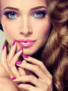 Luxury fashion style, nails manicure, cosmetics and make-up. Royalty Free Stock Photo