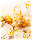 Luxury festive table setting Stock Image
