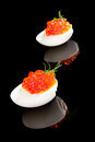 Luxury food red caviar. Royalty Free Stock Images