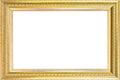 Luxury gold frame isolated. Royalty Free Stock Photo