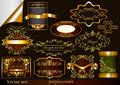 Luxury gold-framed labels Stock Photography