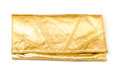 Luxury gold leather clutch bag Royalty Free Stock Image