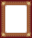 Luxury golden decorative frame Royalty Free Stock Photo
