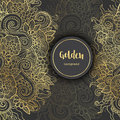 Luxury Golden Modern Background or Card. Royalty Free Stock Photo