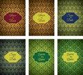 Luxury Golden Pattern Cards Set