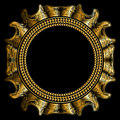 Luxury golden round frame Royalty Free Stock Photo