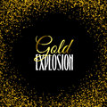 Luxury golden texture. Gold frame glitter  on black. Royalty Free Stock Photo