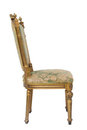 Luxury golden vintage chair Royalty Free Stock Photography