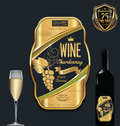 Luxury golden wine label template