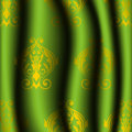 Luxury green curtain vector and gold Stock Image