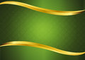 Luxury green with gold lines background vector design. Royalty Free Stock Photo