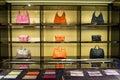 Luxury handbags in the shop Royalty Free Stock Photo