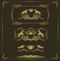 Luxury heraldic golden set Royalty Free Stock Photo