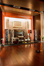 Luxury hifi studio interior Stock Images