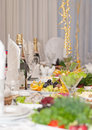 Luxury holiday table Stock Image