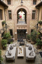 Luxury home atrium Stock Photos