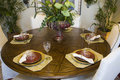 Luxury home dining table. Royalty Free Stock Photo