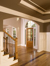 Luxury Home Entranceway with Arch Window Royalty Free Stock Photography
