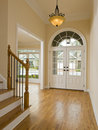 Luxury Home Foyer and Staircase Stock Image