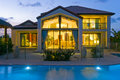 Luxury home with pool Royalty Free Stock Images