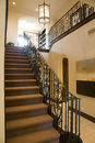 Luxury home staircase. Royalty Free Stock Photography