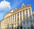 The luxury hotel brussels belgium june magnificent building of saint michel located on grand place next to most notable landmarks Royalty Free Stock Image