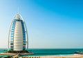 Luxury hotel Burj Al Arab Tower of the Arabs Royalty Free Stock Photo