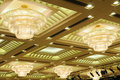Luxury hotel conference room ceiling Royalty Free Stock Photo