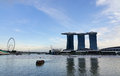 Luxury hotel at marina sand bays in singapore Royalty Free Stock Image
