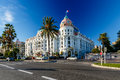 Luxury hotel negresco on english promenade in nice french riviera france Stock Image