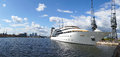 Luxury hotel ship a the sunborn on the excel marina in london Stock Photography