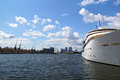 Luxury hotel ship a the sunborn on the excel marina in london Royalty Free Stock Photo