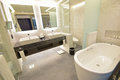 Luxury Hotel Suite Bathroom with Marble concept