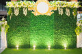 Luxury Indoors Wedding Stage Decorate Royalty Free Stock Photo