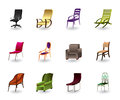Luxury, interior and plastic chairs Stock Image