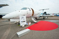 Luxury jet embraer legacy at singapore airshow the on the tarmac the Stock Image