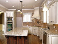 Luxury Kitchen with Granite topped Island Royalty Free Stock Photo