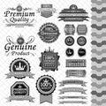 Luxury label set black & white Royalty Free Stock Photo