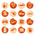 Luxury life stickers set of Stock Images