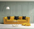 Luxury light green living room Royalty Free Stock Photo