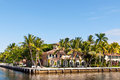 Luxury mansion in exclusive part of fort lauderdale known as small venice Stock Photos