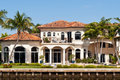 Luxury mansion in exclusive part of fort lauderdale known as small venice Stock Photography