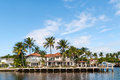 Luxury mansion in exclusive part of fort lauderdale known as small venice Stock Image